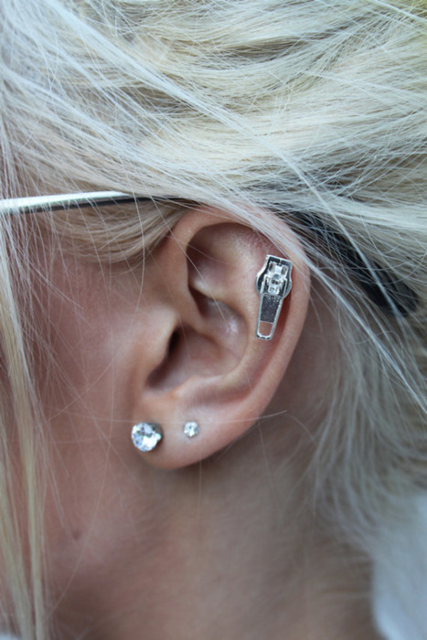 blonde, ear, earrig, earrings, hair