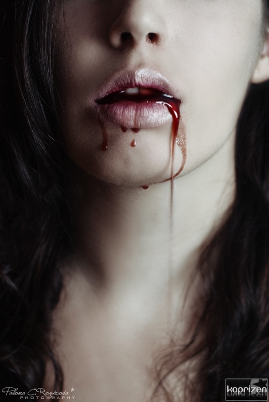 blood, lips, pain, sad, vampire