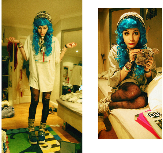 blue, colorful, fashion, nice, vintage