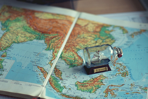 boat, map, ship, travel, vintage