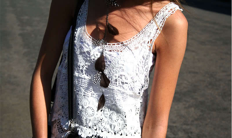 boho, girl, necklace, summer, sun