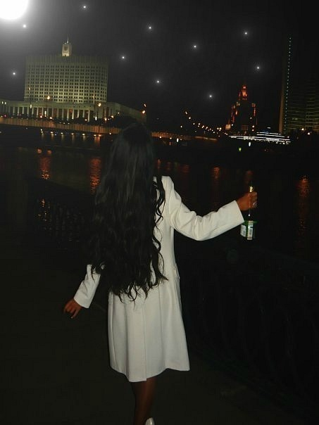 bottle, brunette, champagne, champagne bottle, city, girl, hair, lights, night, party, river, skinny, woman