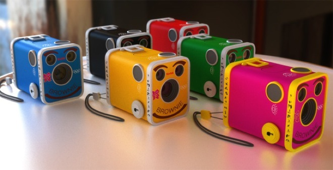 box camera, colorful, cute