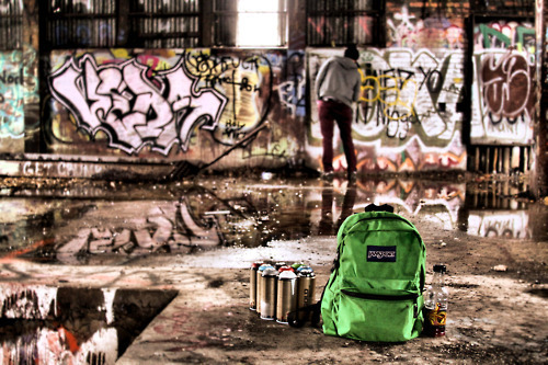 boy, color, graffiti, paint, photography