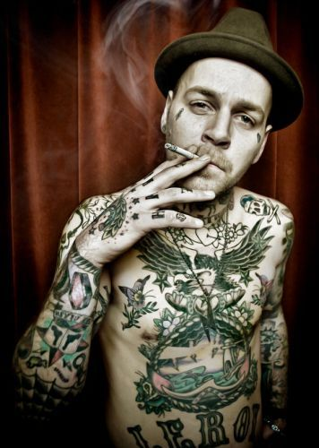 boy, cute, guy, hat, hot, photography, smoke, smoking, tattoo, tattooed, tattooed boy, tattooed guy, tattoos