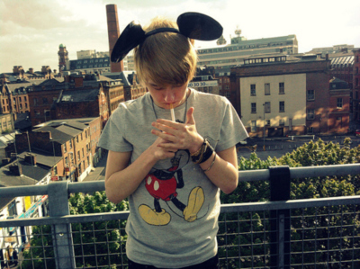 boy, cute, mickey mouse