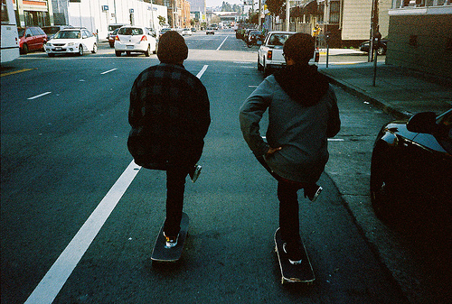 boys, city, cool, road, skateboard, skateboarding, street, vintage