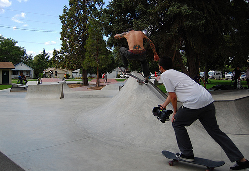 boys, city, cute, day, fun, great, life, skateboard, skater, sky, town, trees