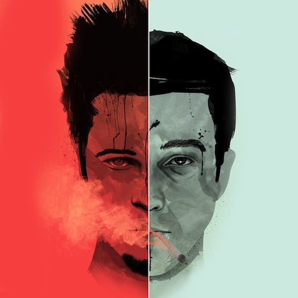 brad pitt, edward norton, fight club, tyler