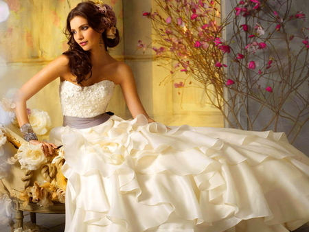 bride, dress, fashion