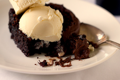 brownie, brownie whit ice cream, chocolate, cute, food