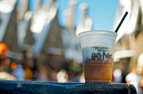 butterbeer, drink, harry potter, straw