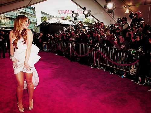 camera, cute, dress, miley cyrus, paparazzi, photos, red carpet