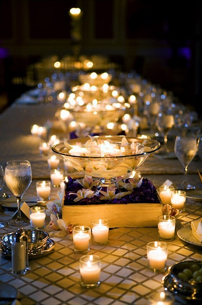 candles, evening, glasses, pretty, twilight