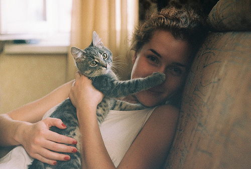 cat, cute, girl, photo