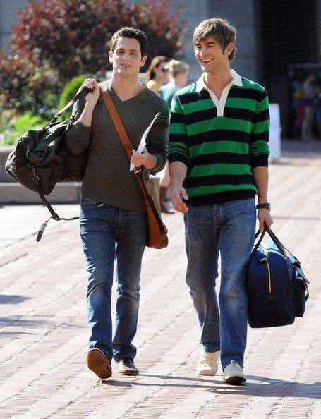 chace crawford, dan humphrey, denim, fashion, gossip girl, jeans, nate archibald, outfit, penn badgley, pretty, sneakers, style