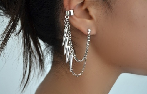 chain, cool, earing, pretty