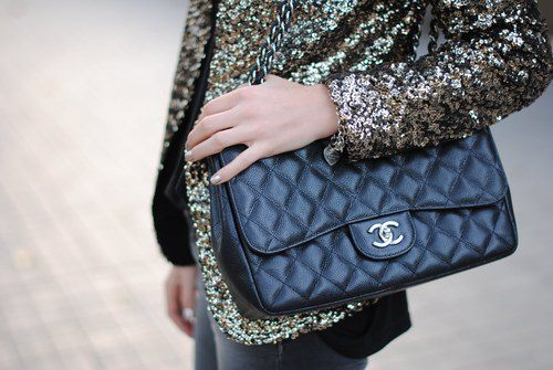 chanel, fashion, glitter