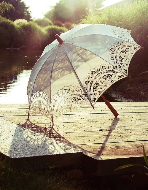 classic, lace, outdoors, umbrella, vintage