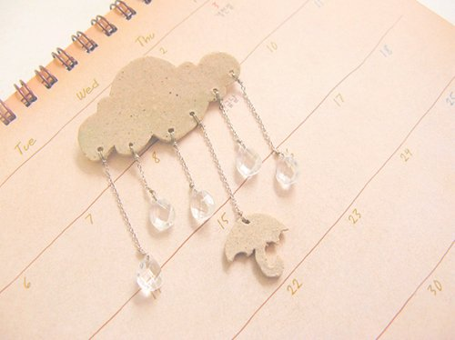 cloud, paper, pretty, rain, umbrella