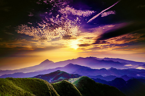 clouds, colours, landscape, mountains, nature