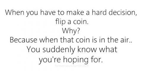 coin, decision, flip, hoping, quote