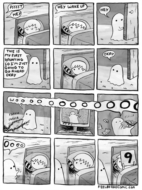 comic, cute, funny, ghost