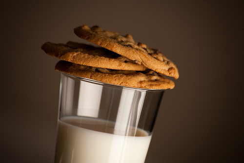 cookies, food, milk, yum