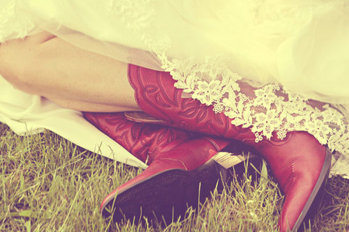 country, cowboy boots, red