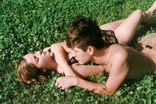 couple, cute, fashion, girl, grass, guy, lace, love, style