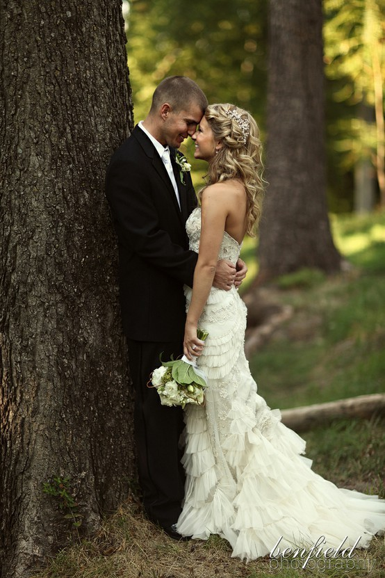 couple, dress, gorgeous, pretty, wedding