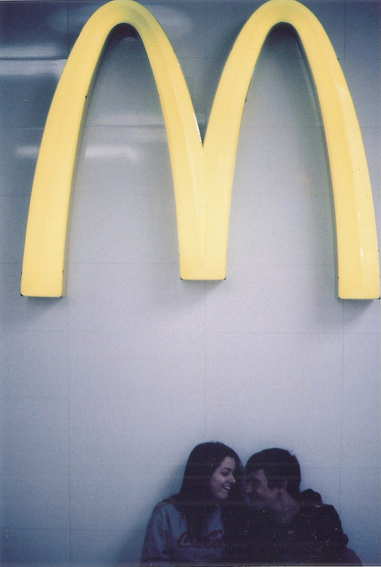 couple, film, hipster, love, mcdonalds