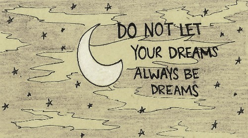 cute, dreams, moon, night, quote