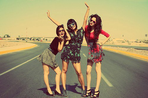 cute, fashion, friends, girl, girls