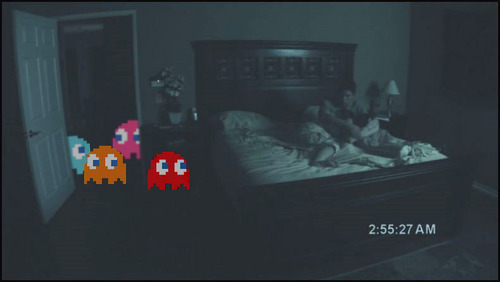 cute, funny, ghosts, pacman, paranormal activity