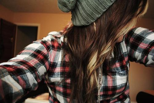 cute, girl, hair, plaid