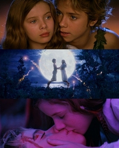 dance, fairies, kiss, neverland, peter pan, wendy