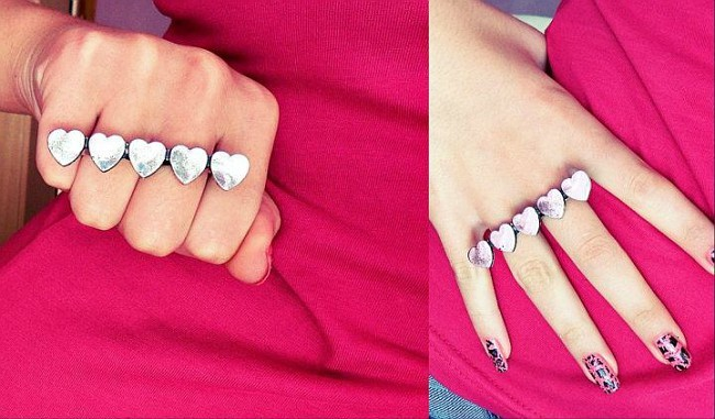 domante, girl, heart, heart ring, heart rings