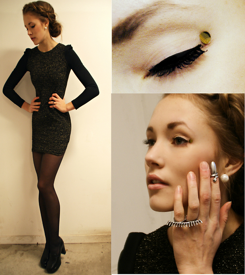 dress, eye fashion, fashion, girl, jewelry, lookbook, make-up, model, petra karllson, pretty, ring !