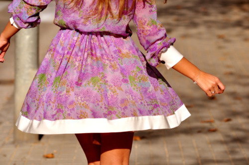 dress, fashion, flowers, girl, street style