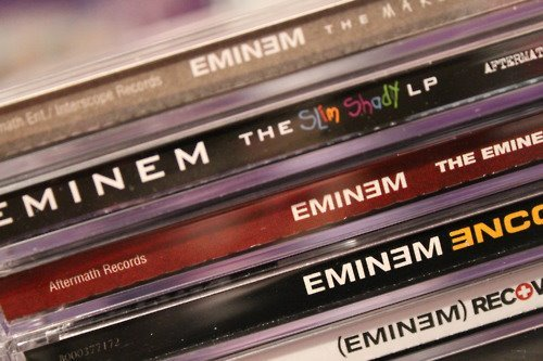 eminem, encore, recovery, the eminem show, the marshall mathers lp, the slim shady lp