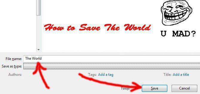 file, funny, save, save the world, troll