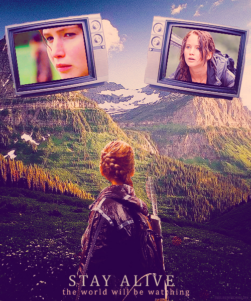 film, katniss everdeen, mountain, nature, the hunger games