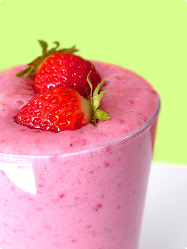 food, shake, smoothie, strawberry