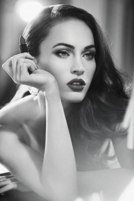 girl, lipgloss, megan fox