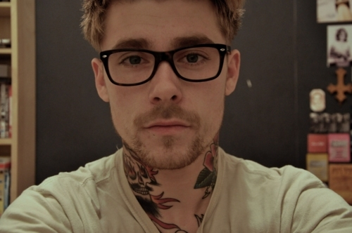 glasses, guys with glasses, scruff, tattoo