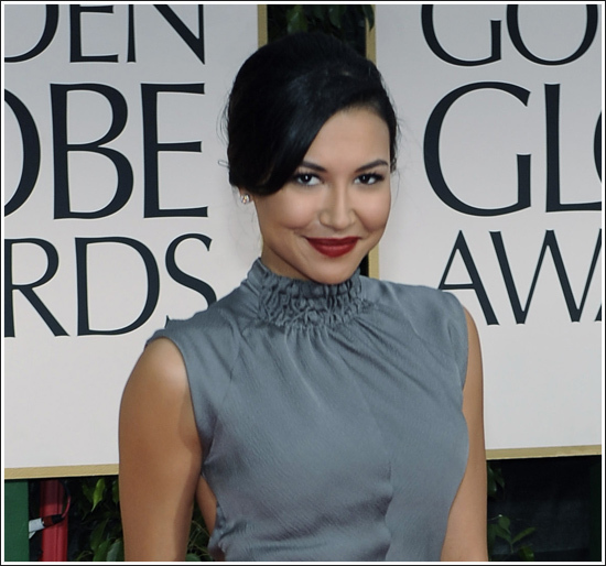 glee, golden globes, naya rivera