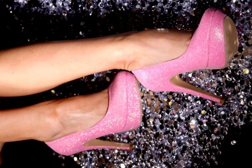 glitter, pink, pretty, shoes, sparkle
