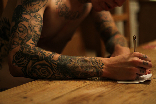 guy, tattoo, tattooed