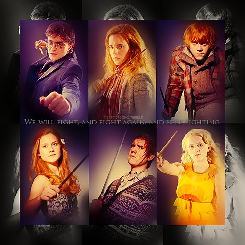 harry potter, hermione granger, luna lovegood, neville longbottom, ron weasley